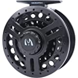Maxcatch Explorer Large Arbor Fly Reel: Lightweight Black Polymeric Body, 5/6 and 7/8 weight