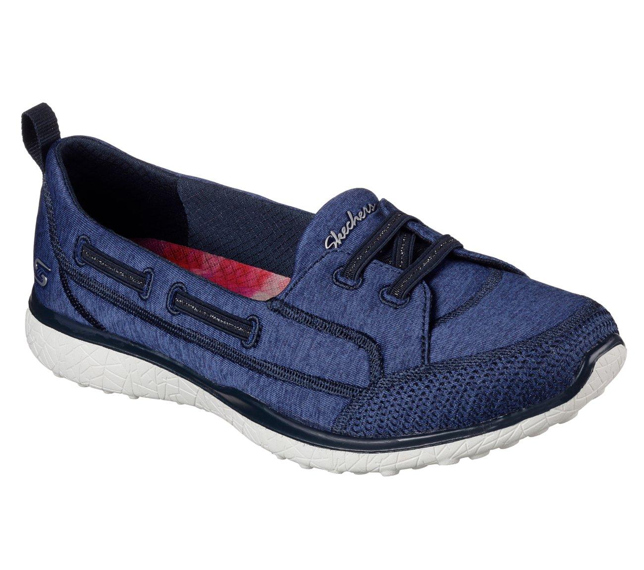 Skechers Microburst Topnotch Womens Slip On Sneakers Navy 8.5 W