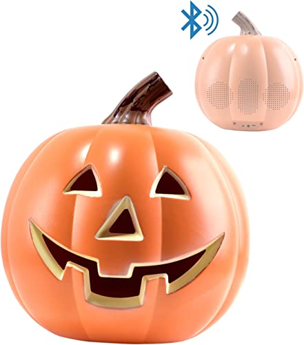 EpicXL PK100 Halloween Dancing Pumpkin – Bluetooth LED Lightup Speaker, Orange