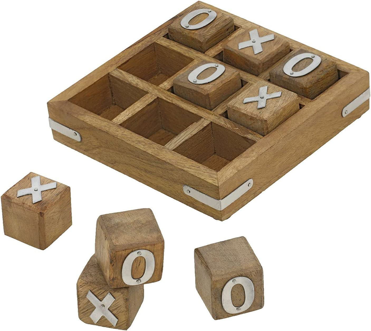 Indian Glance Tic Tac Toe Wooden Game Set for Kids 7 and Up - Unique Gifts for Kids for All Occasions