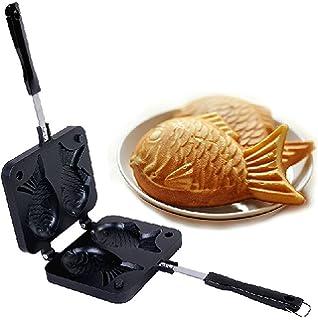 Japanese Taiyaki Fish Shaped Cake Maker Waffle Pan Mold 2 Cast Bakeware Wtih 2 Sided Home