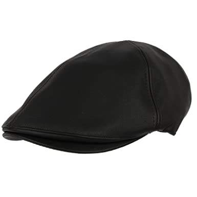 WITHMOONS Faux Leather Newsboy Hat Flat Cap SL3039