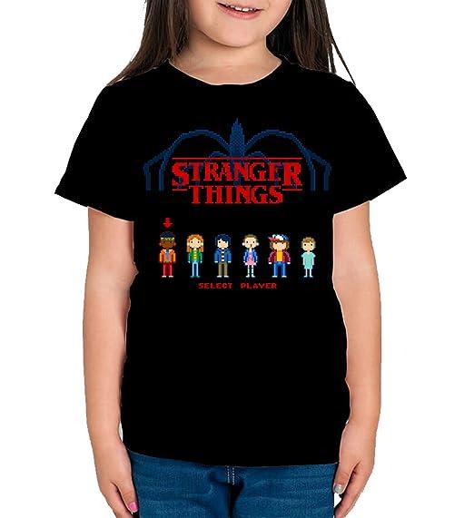 Camiseta de Hombre Stranger Things Serie Retro TV 80