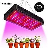 TOPLANET Dimmable 300w Lampe pour Plante Culture Spectre complet LED Grow Light UV&IR Lampe de Croissance pour Indoor Grow Box/Hydroponique Plante Semis