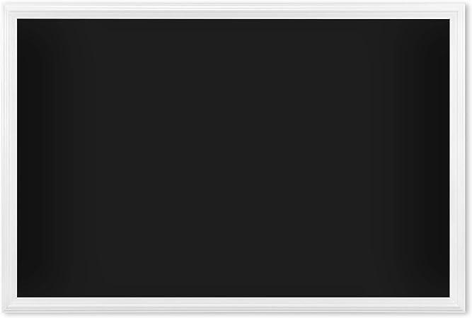 Amazon Com U Brands Magnetic Chalkboard 30 X 20 Inches White Wood Frame 2073u00 01 Black Office Products