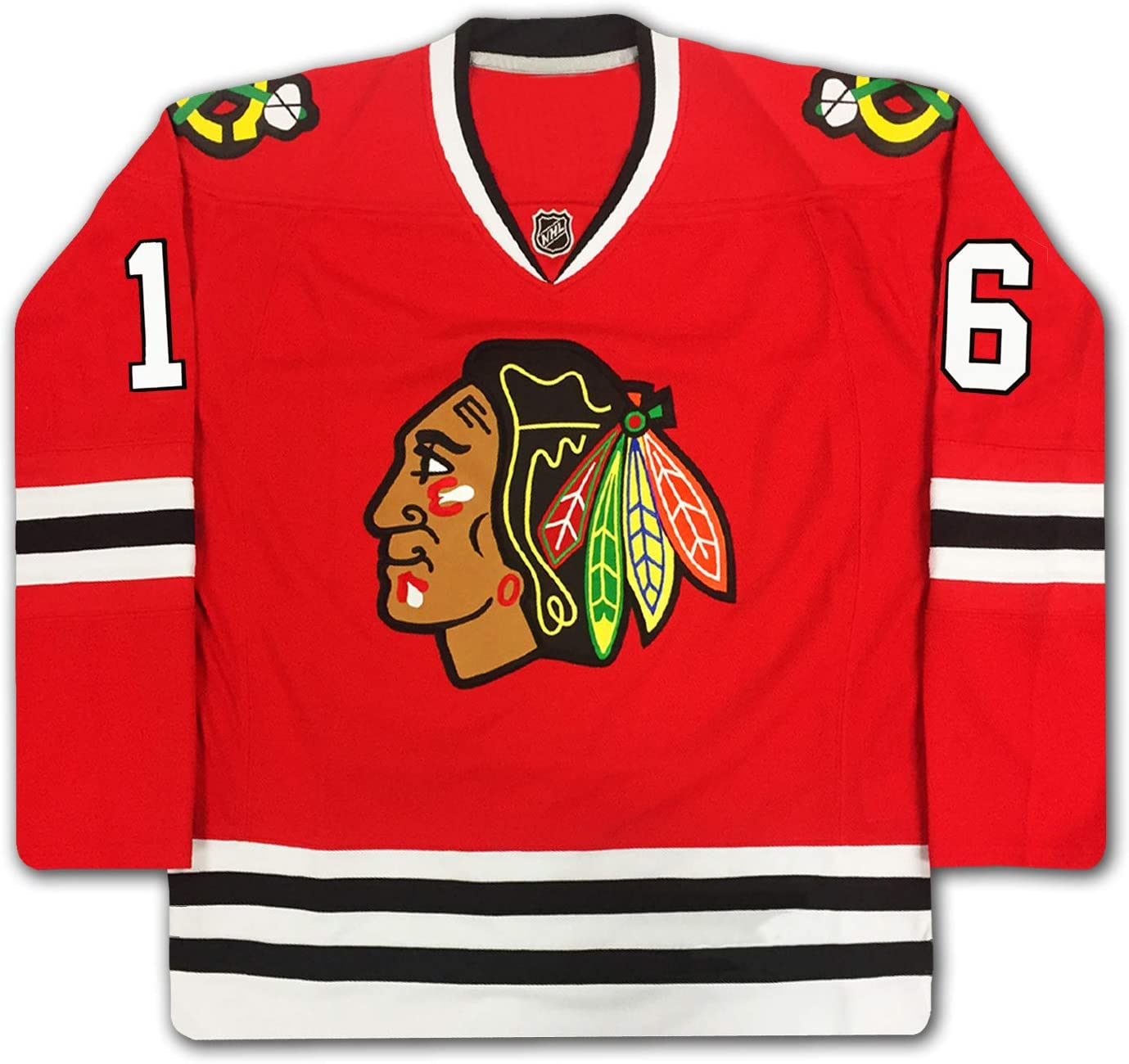 Bobby Hull Number 16 Signed Red Chicago Blackhawks Jersey at ...