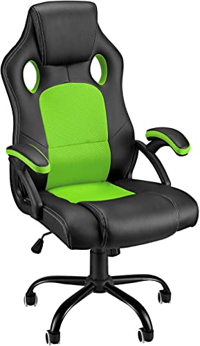 Reviewed: Gaming Chair Video Game Chairs Racing Computer Office Chair High Back Tall Ergonomic Armrest Comfortable PU Leather Mesh Gaming Chare Adjustable 360 Silent Rolling Wheels
