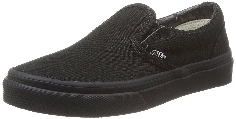 Vans Boys' Classic Slip-On (Little Big Kid), Black, 12.5