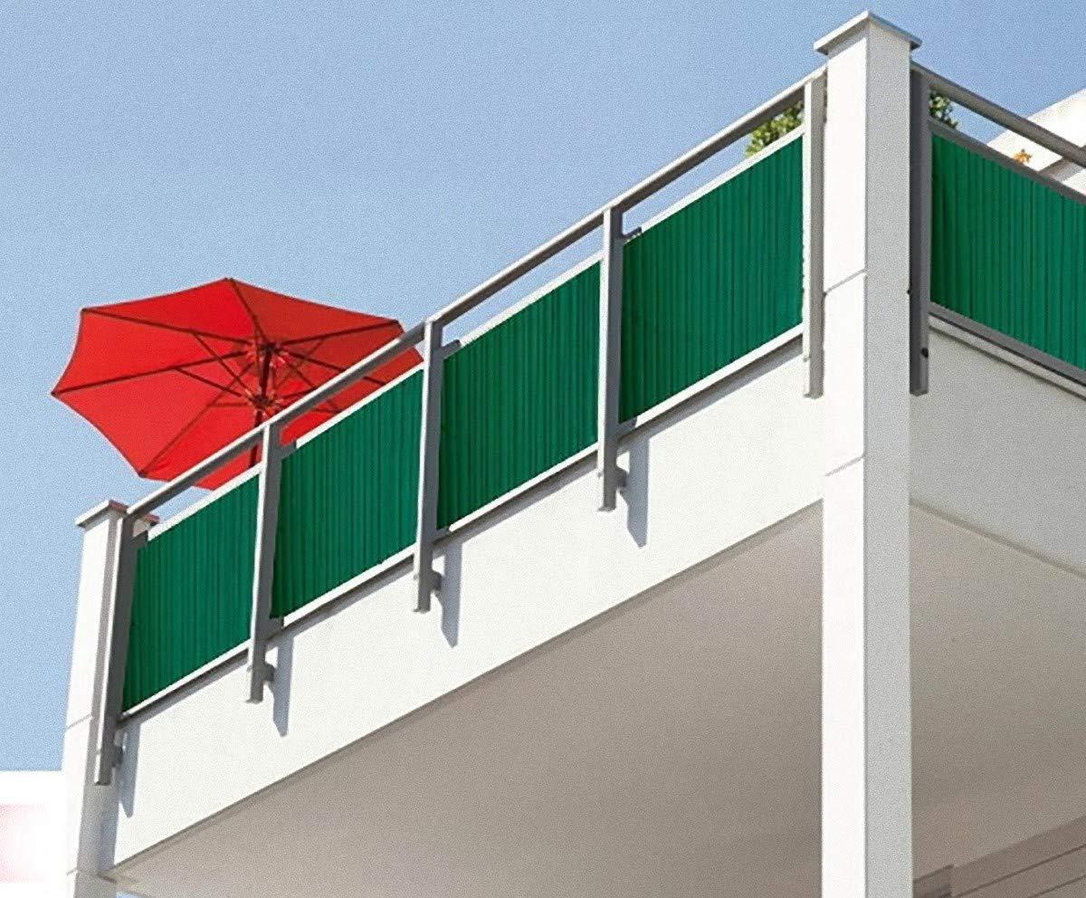 Dynamic24 Pvc Sichtschutzmatte 180x400 Cm Braun Balkon Sichtschutz