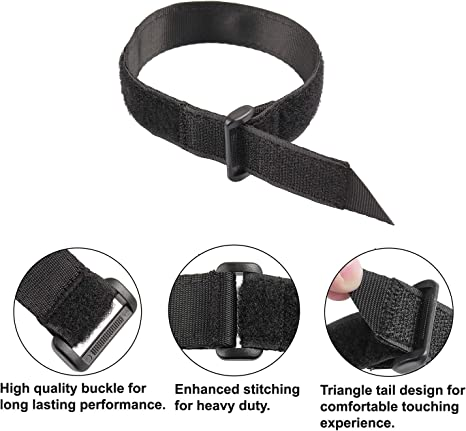 8, 1 x 18 Ayaport Cinch Straps 1 x 18 Durable /& Reusable Hook and Loop Covered with Nylon Webbing Securing Buckle Straps for All Purpose Cord Wrap Organizer Storage 8 Pack Plus 4pcs Cable Ties