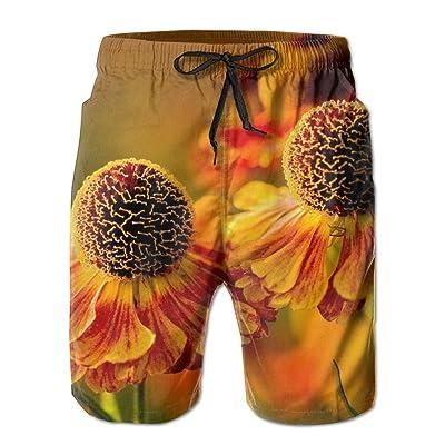 HFSST Spherical Orange FlowersHandsome Fashion Summer Cool Shorts Swimming Trunks Beachwear Beach Shorts