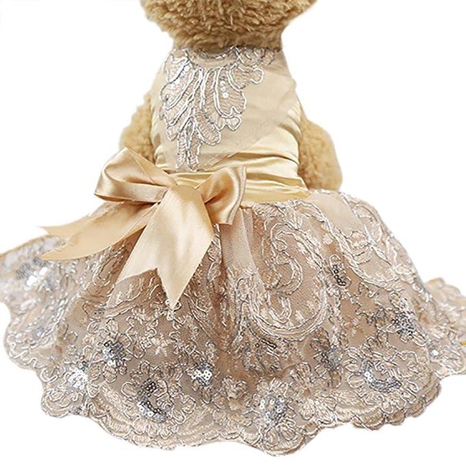 Amazon.com: Howstar Pet Dress Lace Princess Wedding Dresses For Dog ...