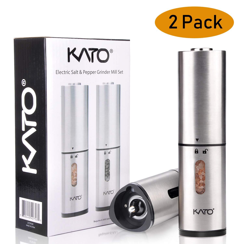 Kato Lot de 10 outils en acier inoxydable pour casse-/œuf dur et doux Set de broyeurs /électriques Argent