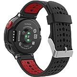 Garmin ForeAthlete 235J バンド - ATiC Garmin ForeAthlete 235J専用ソフト 高級 シリコーン製腕時計ストラップ/バンド 交換ベルト Black & Red(Garmin ForeAthlete 220/230/235/620/630/735に対応)