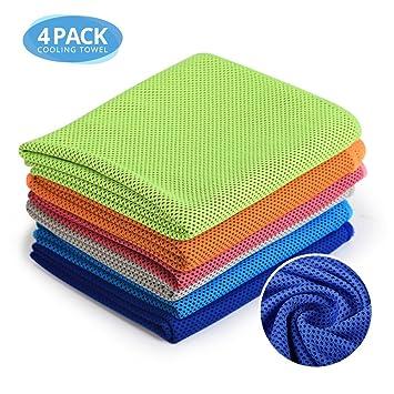 JDM Sports Microfibra Set de toallas de enfriamiento Secado rápido esencial para el gimnasio Pilates Camping