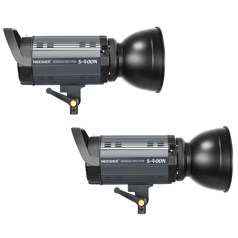 Neewer 800W Photo Studio Strobe Flash and Softbox Lighting Kit: (2)400W Monolight Flash(S-400N),(2)Reflector Bowens Mount,(2)Light Stand,(2)Softbox,(2)Modeling Lamp,(1)RT-16 Wireless Trigger,(1)Bag by Neewer (Image #2)