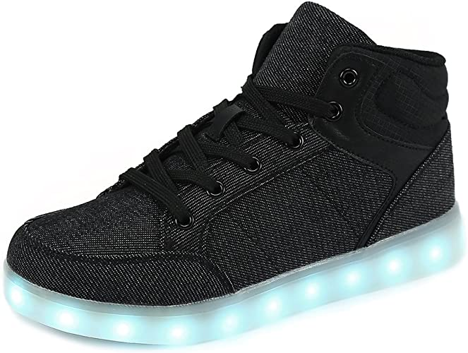 UK Kids Boys Girls New Light Up Shoes LED Flashing Trainers Casual Sneakers FULL