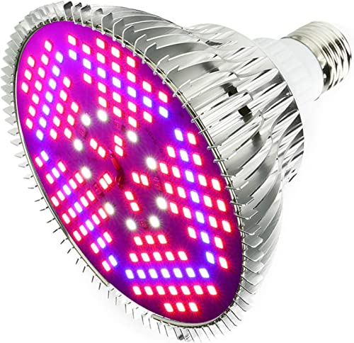 Outcrop Innovations 100w Indoor LED Grow Light Bulb for Growing Plants, Vegetables, and Flowers – 150 Individual LEDs Full Spectrum PAR with E27 Base for Hydroponics Greenhouses Indoor Gardening