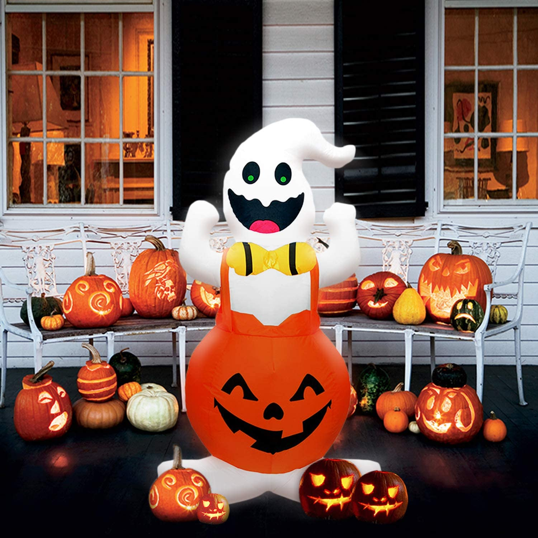 Yodeace Halloween Decoracion, Calabaza Halloween, Ghosts de Halloween Inflable(120cm)
