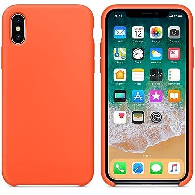 iphone 8 liquid silicon case orange