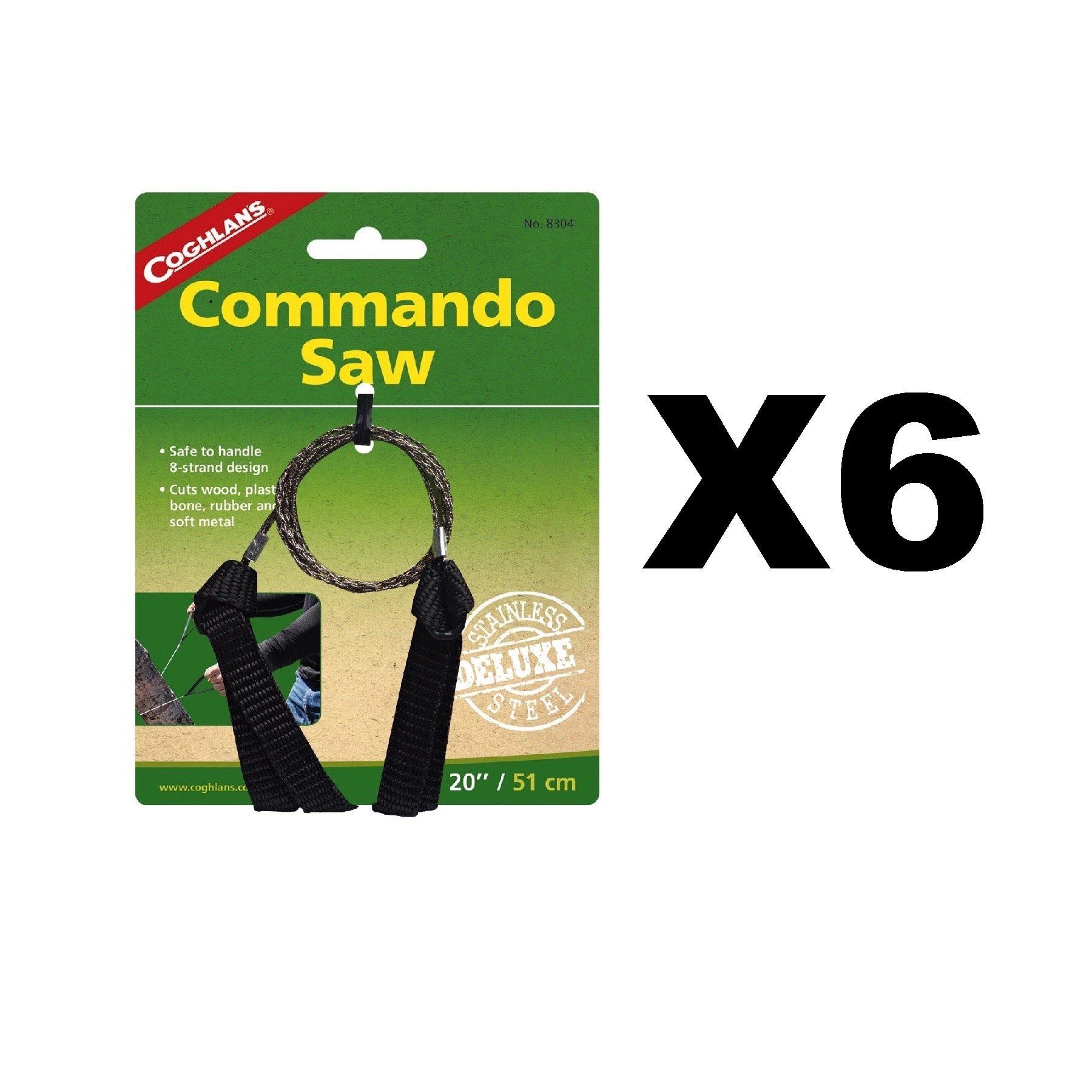 Coghlan's Deluxe Pocket Commando Saw 20'' w/Nylon Handles (6-Pack)