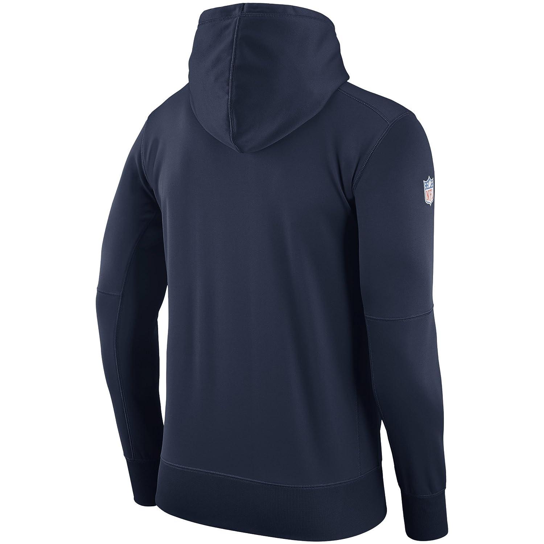 Nike Denver Broncos Pullover Performance Sideline Hoodie Sweatshirt (Large)