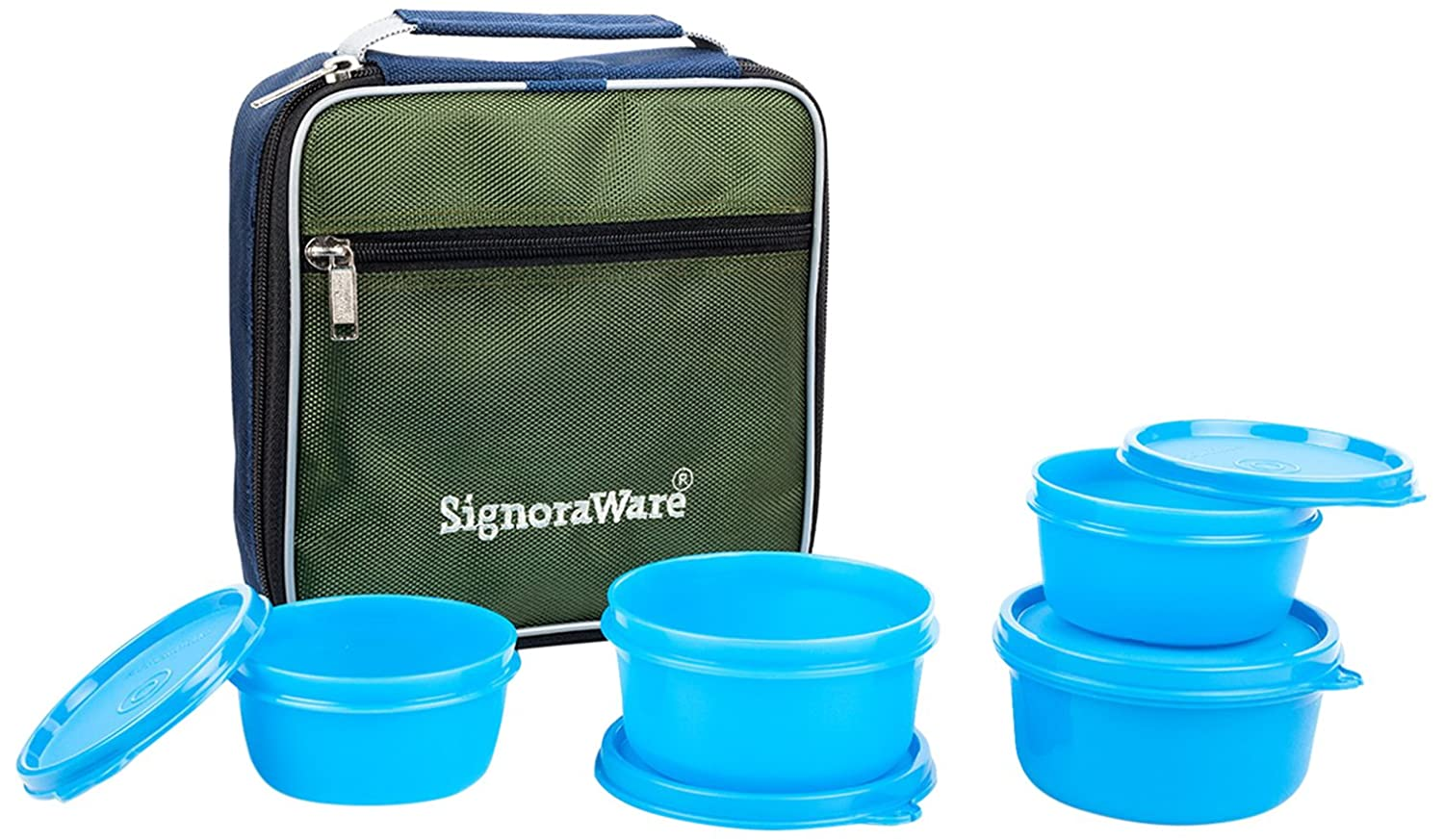 Signoraware Fresh Lunch Box with Bag, Blue