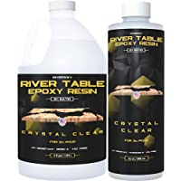 Epoxy Resin for River Table – Different Gallon Size UV Resistant Crystal Clear Epoxy Resin Kit - 2:1 Ratio for Deep Pour…