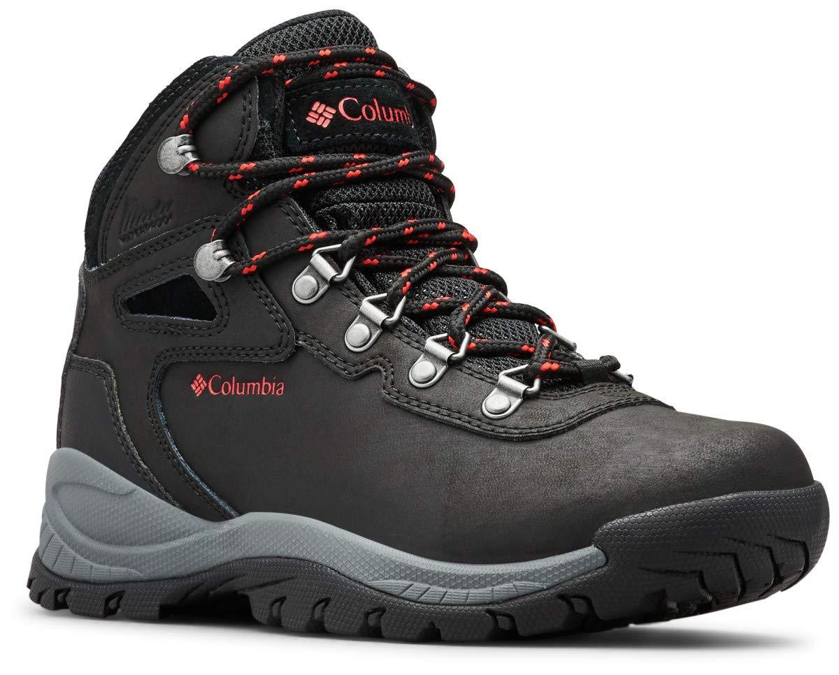 Columbia Women's Newton Ridge Plus Hiking Boot, Black/Poppy Red, 8.5 Regular US by Columbia