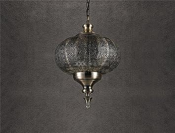 Gut GBYZHMH Nordic Retro Restaurant American Kronleuchter Orientalische Indische  Südostasien Metall Lampen Laternen Leuchter (Größe: