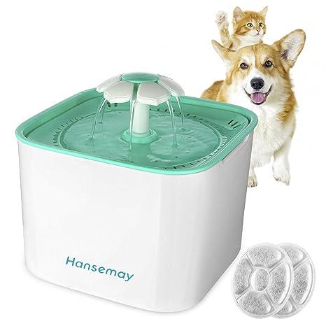Fuente de agua para mascotas, Hansemay Fuente de agua para mascotas eléctrica automática, Fuente de agua ...