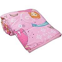 aqrate Cartoon Print Single Bed Reversible Ac Blanket/Dohar for Kids