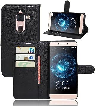 LeEco Le Max 2 cáscara protectora, Wrcibo LeEco Le Max 2 Funda Flip de PU Cuero Billetera Cartera Monedero Funda Caso Case para LeEco Le Max 2 Smartphone (Negro): Amazon.es: Electrónica