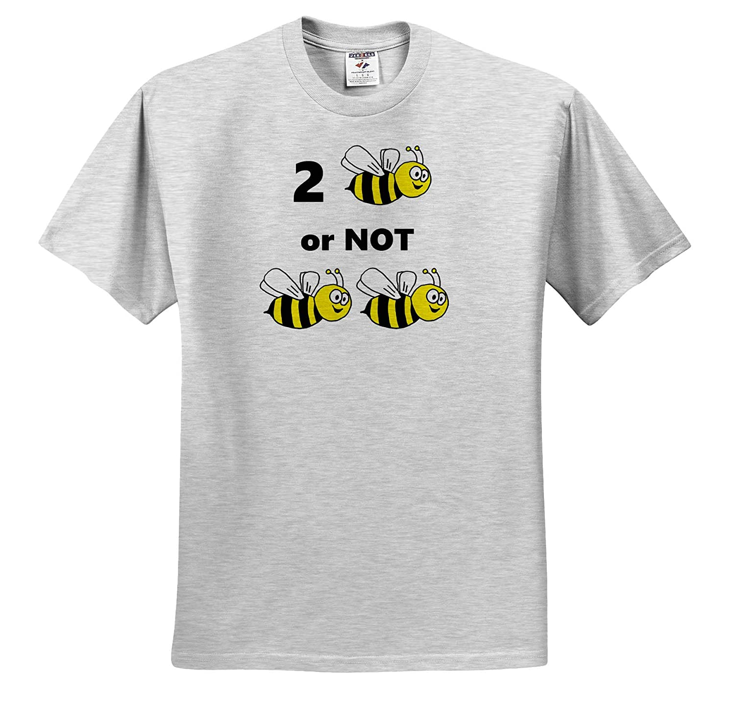 ts/_319342 Funny Adult T-Shirt XL Funny Cute to Be or Not to Be Bee Pun Cartoon 3dRose All Smiles Art