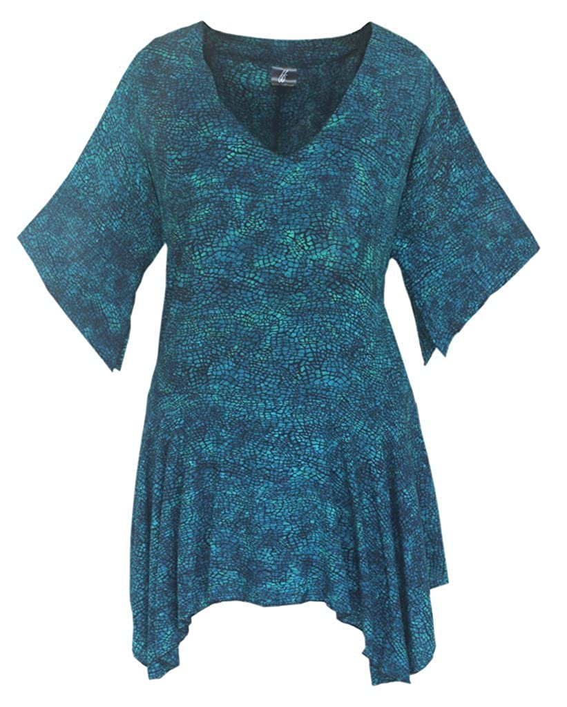 Plus Size Women's Clothing | Boho Lagenlook Plus Size | One Size, Bust to 54 Bust to 54