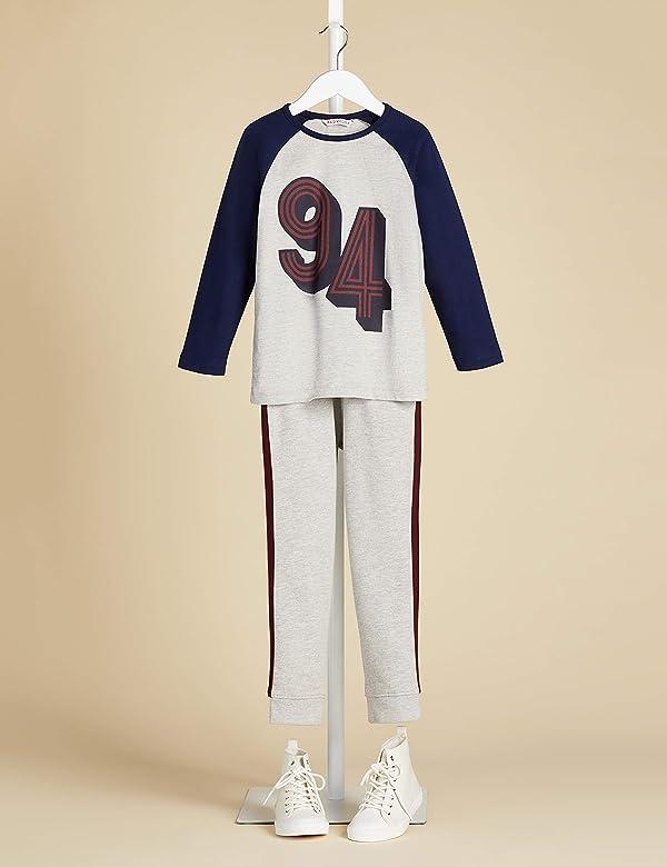 RED WAGON Boys Stripe Detail Jogger Trouser, Grey, 104 (Size: 4 ...
