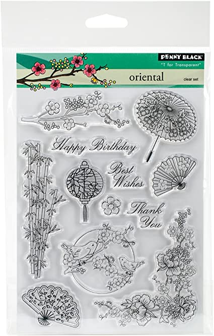 Penny Black Oriental Clear Unmounted Rubber Stamp Set 30-348