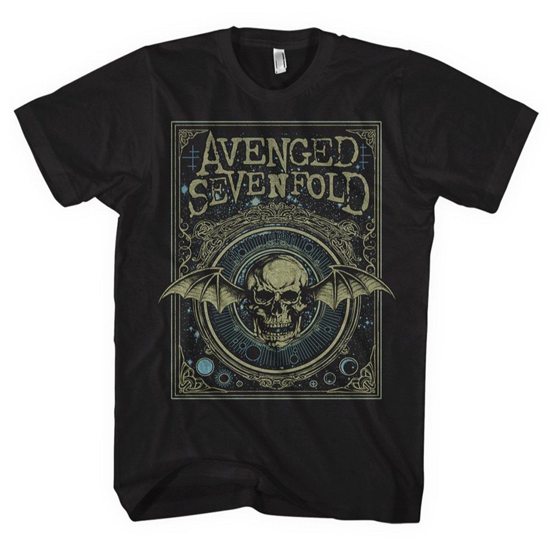 Avenged Sevenfold Unisex-Adult's Official Ornate Deathbat T Shirt - Large, (Black)