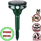 funfunfly [UPGRADED VERSION] Solar Power Ultrasonic Cat Dog Animal Repeller Rodent and Pest Repellent Eliminator Pest Control PIR Sensor LED flash