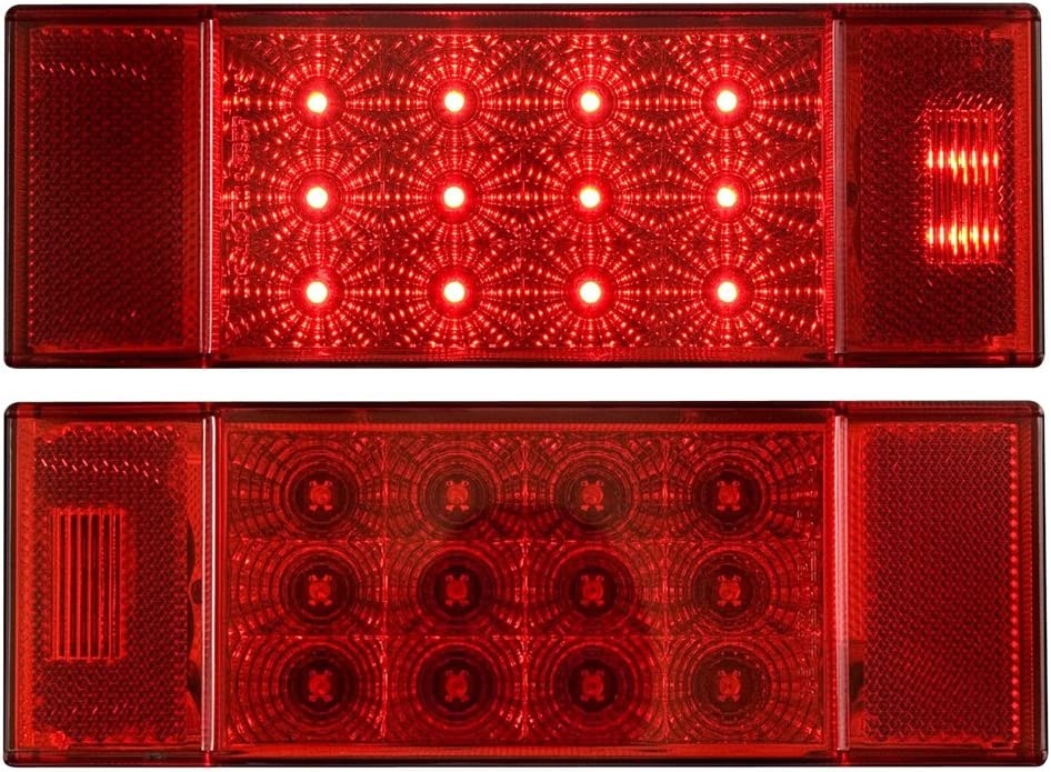 Optronics TLL26RKRed Rectangular Combination Tail Light Set