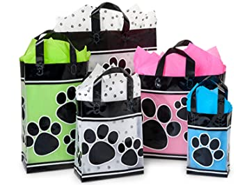 Fabulous Amazon.com: Paw Print Plastic Shopping Gift Bags, Assorted Sizes  SK12