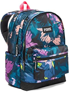 Victoria s Secret Pink Campus Backpack Black Floral 81bb4a9f74b16