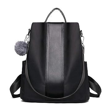 LUI SUI Damen Rucksack Handtaschen Nylon Daypack Umhängetasche Reiserucksack Schulrucksack Backpack Schultertasche PU Leder Anti Diebstahl Tasche für