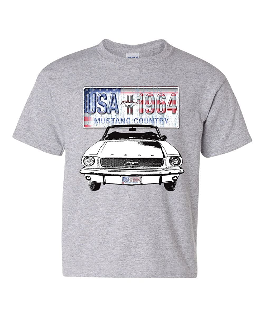 Amazon.com: Mustang Country 1964 Youth T-Shirt Ford Legend USA American Classic Kids Tee: Clothing