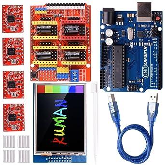 Kuman Módulo de expansión Arduino CNC shield V3.0 + Arduino UNO R3 ...