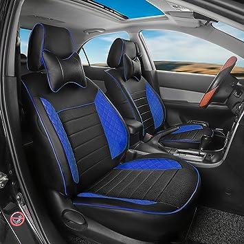 Car seat covers fit Peugeot 307 black//blue leatherette full set