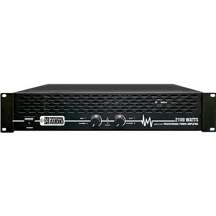 amazon com 2100 watt professional dj power amplifier adkins pro