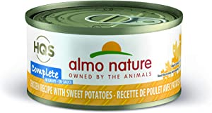 Almo Nature HQS Complete Chicken with Sweet Potatoes In Gravy Grain Free Wet Canned Cat Food (Pack of 24x 2.47 oz/70g )