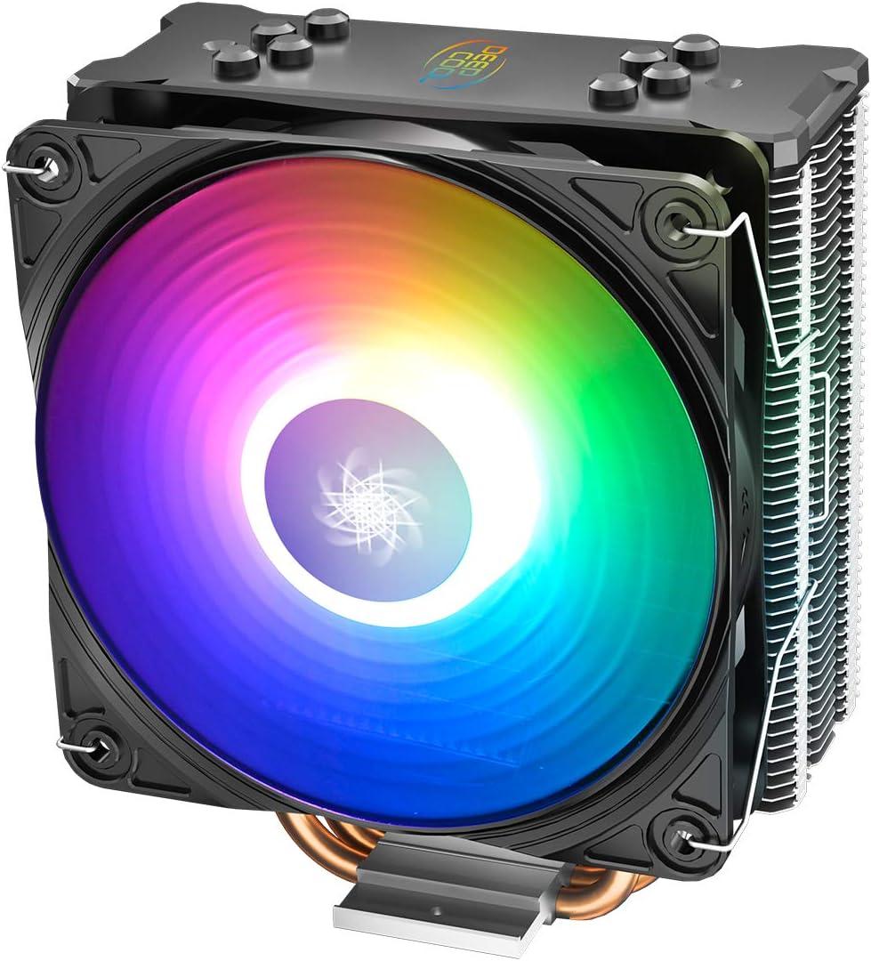DEEP COOL GAMMAXX GT Add RGB, Disipador de CPU, 120mm CPU Ventilador con Iluminación RGB Direccionable, Incluye un Controlador de Cable