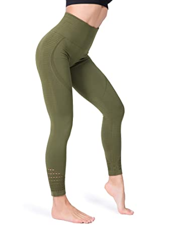 beb76ce8526611 FITRELL High Waist Yoga Pants for Women Tummy Control Running Seamless Gym  Workout Leggings, M